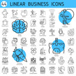 Vector linear icons business economic development