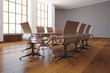 Modern conference room side