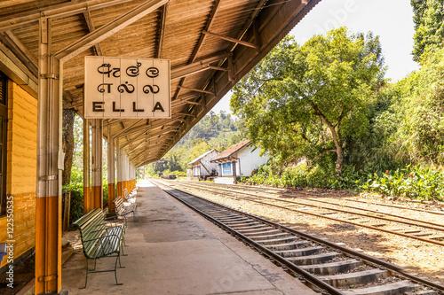 Ella train station sign, Sri Lanka