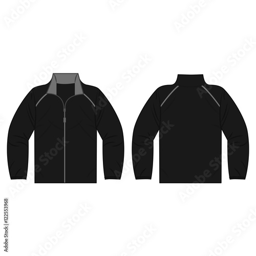 Black autumn, spring jacket isolated vector front and back for promotion advertising Wall mural