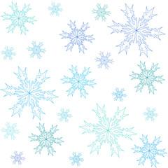 Fototapeta winter pattern