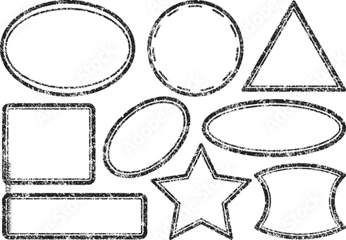 big set of grunge templates for rubber stamps buy this stock