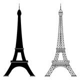 Fototapeta Fototapety z wieżą Eiffla - Eiffel tower isolated vector illustration
