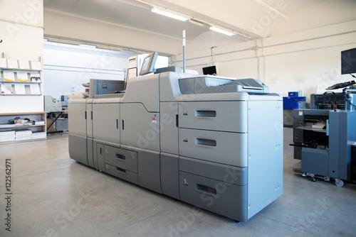 Print Shop - Digital press printing machine - Buy this stock photo