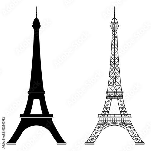 Eiffel tower isolated vector illustration Fototapete