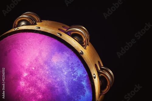 Photo Wooden Tambourine in Studio