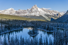 Cathedral Mountain And  Mary Lake, Yoho National Park, British Columbia, Canada