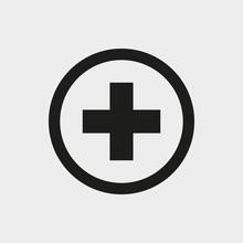 Plus Icon Stock Vector Illustration Flat Design