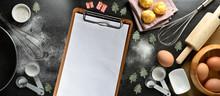 Blank Clipboard With Kitchen U...