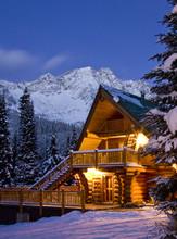 Island Lake Lodge Near Fernie, BC, Canada.