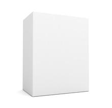 Blank Box On White  Concept  3d Illustration