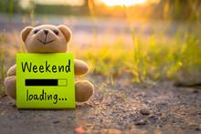 Happy Weekend On Sticky Note W...