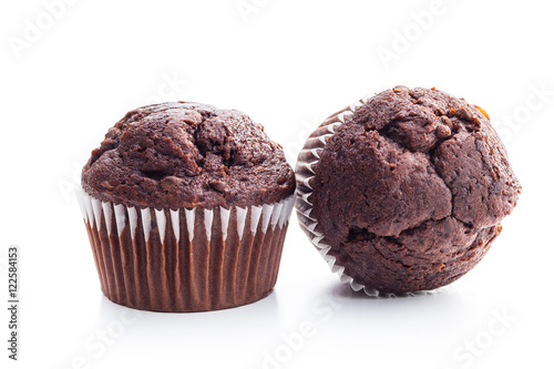 Fotomural The tasty chocolate muffin.