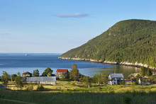 Early Morning Light On The Coastal Village Of Port-au-Persil Along The St. Lawrence River, Charlevoix, Quebec, Canada