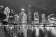 Skyline of Singapore city at night