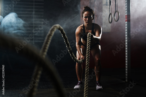 Keeping fit with cross training Fototapeta