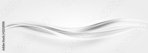 Welle Wellen Hintergrund Grau Silber - fototapety na wymiar