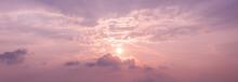 Panorama Sunset Sky Background...