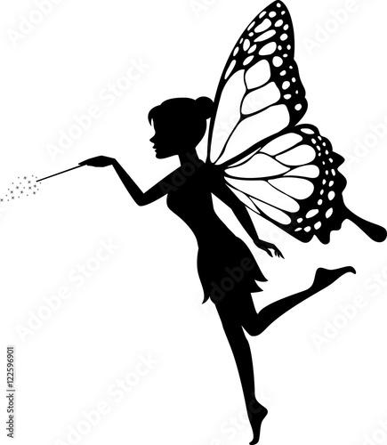 Fotografie, Obraz  Fairy Waving Her Wand