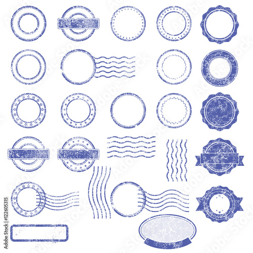 blank templates of shabby postal stamps buy this stock vector and