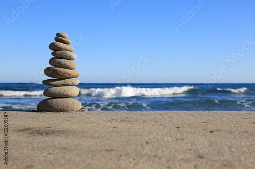 Spoed Foto op Canvas Stenen in het Zand piedras zen playa U84A1700-f16
