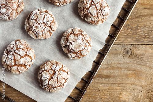 Fotografia, Obraz  Chocolate crinkle cookies