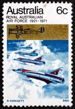 Postage Stamp Australia 1971 Australian Mirage Jet Fighters