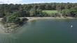 Horizontal flight along the shore of Lysterfield lake. Melbourne, Victoria, Australia