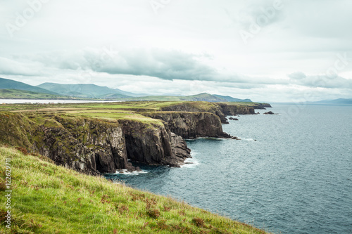 Fotobehang Kust Ireland cliff.