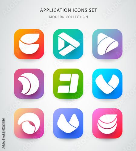 big vector icons set for application logo icon design app icon