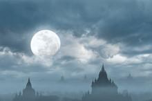 Amazing Castle Silhouette Unde...
