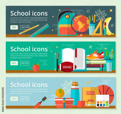 Fotografie, Obraz  Vector Back To School Banner concept design