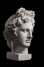 Gypsum Statue Of Apollo's Head...
