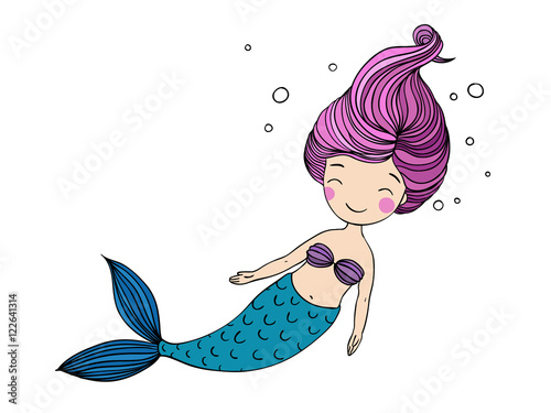 Photographie  Beautiful little mermaid.