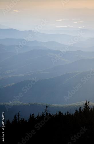 Spoed Fotobehang Zalm Mount Mitchell State Park