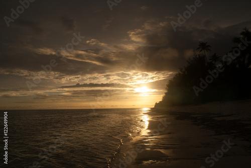 Fotografie, Obraz  Rarotonga, Beach Sunset