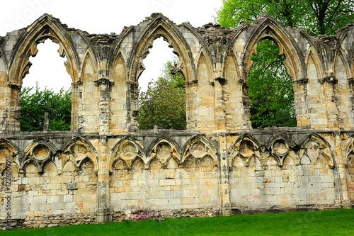 Fotobehang Rudnes St. Mary's Abbey in York city, England, UK