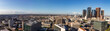 Panorama skyline of Los Angeles with Financial District