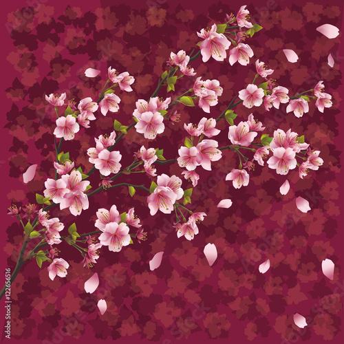 Staande foto Roze Japanese background with sakura blossom