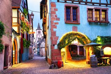 Fototapeta Uliczki Colorful town of Riquewihr, Alsace, France