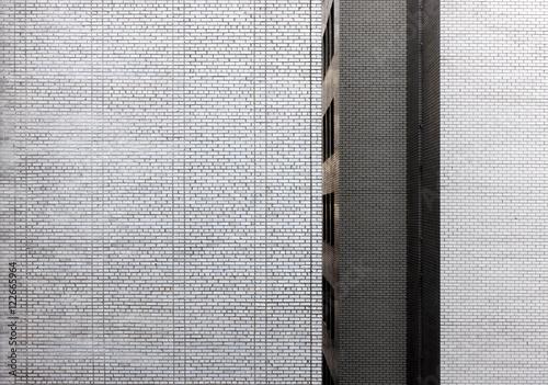 Exterior white brick wall  - 122665964