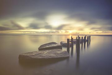 Fototapeta Morze Zachód słońca nad morzem bałtyckim