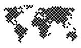 Vector pixel world map - 122669181