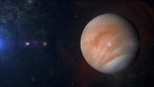 Solar System Planet Venus On Nebula Background 3d Rendering.