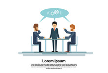 Businesspeople Group Working Creative Team Business People Sitting Office Desk