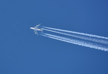 Airbus 380 On The Blue Sky