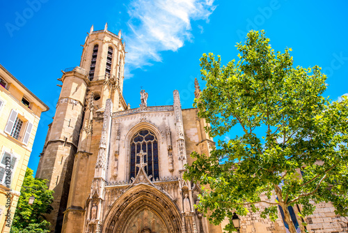 Saint Sauveur gothic cathedral in Aix-en-Provence in France Canvas Print