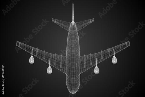 Fotografie, Obraz  3D jet plane - illustration