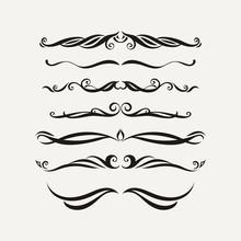 Vector Set Of Elegant Curls An...