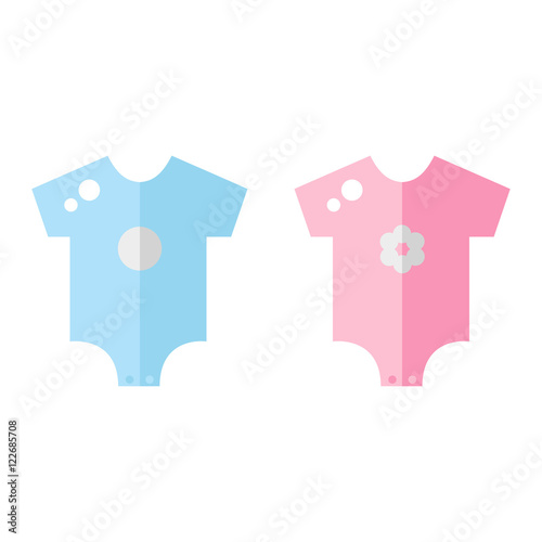9ff1f72f5ea5 Baby clothes icons. Boy and girl clothes. Newborn clothing. Baby ...